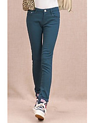 ts simplicidade básica elásticas velet Cintura Oriente azuis calças jeans