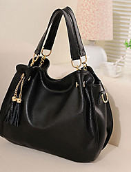 FEILIMEI Elegant Genuine Leather Shoulder/Crossbody Bag/Tote(Black)