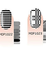 28pcs Scrawl Cartoon Nail Art Stickers environnement enceintes No.4 (2 Patterns, 2x12PCS)