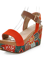 Zapatos de mujer - Plataforma - Plataforma - Sandalias - Casual - Ante - Negro