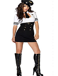 Sexy Women White Dress Air Pilot Uniform
