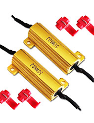 50W 6Ohm Load Resistors for LED Turn Signal Lights or License Plate Lights (Fix Hyper Flash, Warning Cancellor)