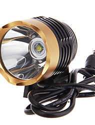 3-Mode Cree XM-L T6 LED Bicycle Flashlight/Headlamp (1000LM, 4x18650, Black+Gold)