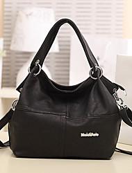 Lady Casual Fashion PU Leather Shoulder Bag/Crossbody Bag(Black)