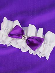 свадьба подвязки с фиолетовым бантом