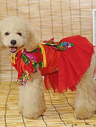 Elegant Chinese Style Wedding Dress for Pets Dogs (Assorted Sizes)