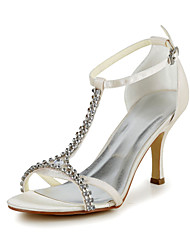 Satin Wedding Occasion Stiletto Heel Pumps & T-Strap Sandals & Heels(More Colors)