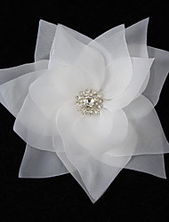 Perfect Organza With Rhinestone Women's Corsage Brooch