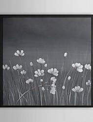 Flor no vento Pintura a óleo quadro floral