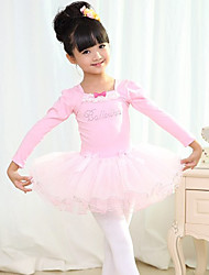 Kids' Dancewear Dresses Children's Training Cotton / Lycra Bow(s) Natural