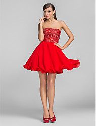 Cocktail Party / Prom Dress - Ruby Plus Sizes / Petite A-line / Princess Strapless Short/Mini Chiffon