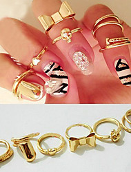 Ring Party / Daily / Casual Jewelry Alloy Statement Rings5 Gold