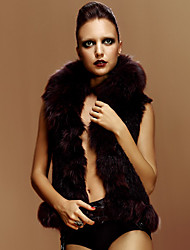 Fur Vest With Sleeveless Shawl Fox Fur&Rabbit Fur Party/Casual Vest(More Colors)