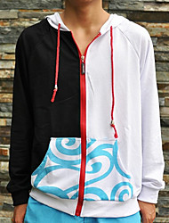 Inspired by Gintama Gintoki Sakata Anime Cosplay Costumes Cosplay Hoodies Patchwork / Print White / Black Long Sleeve Coat