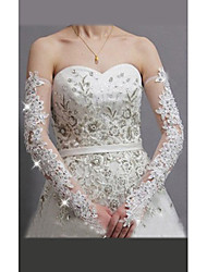 Opera Length Fingerless Glove Lace/Tulle Bridal Gloves/Party/ Evening Gloves