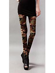 Moda oscuro del camuflaje Leggings Novena
