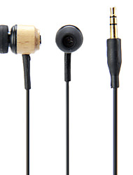 Legno in-ear Super Bass auricolare per Mp3 Player
