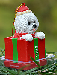 Cute Bichon Frise Decorative Ornament Christmas Gift for Pet Lovers