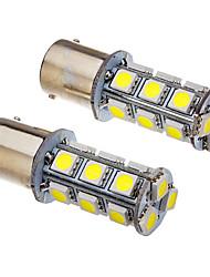 2 st 1156 2W 18x5050SMD 100-150LM 6000K Cool White Light LED Bulb (12V)