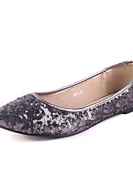 IG.SHOES Fashion Sequins Flat Heel PU Shoes(Gray)