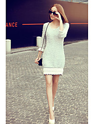 Women's Dresses , Knitwear Vintage/Casual/Cute/Work A.GSTORY