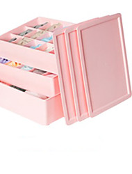 3 Pieces PP Material 3 Lids Storage Box-2 Colours Available