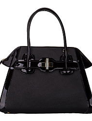 SCIDACA Fashion Vintage Casual Cow Leather Black Tote