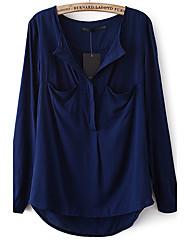 Edino oscuro Loose bolsillo de la camisa (azul marino)