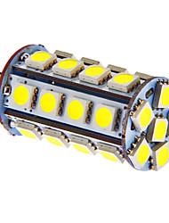 g4 5W 30x5050smd 270lm chaude lumière blanche / froid led ampoule pour voiture (12V DC)