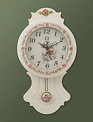 """23,5 """"White Rose Turismo Rural Estilo Relógio de parede com pêndulo"""