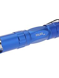 Police 3W mono-mode LED lampe torche Brown (1xAA, Bleu)