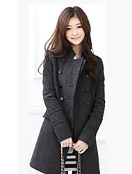 Women's Coats & Jackets , Others/Tweed Casual Long Sleeve Charest