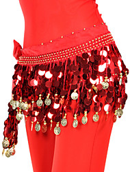 Fascinating Chiffon Belly Dance Belt With 88 Coins For Ladies(More Colors)