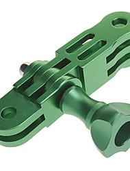 Aluminum Mount 3-way Pivot Arm extension &1 knob screw nut for GoPro Hero 2/3 Green