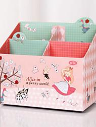 Cute Pink Cartoon Paper Storage Box