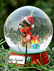Lovely German Shepherd Decorative Crystal Ball Ornament Christmas Gift for Pet Lovers