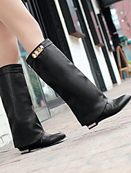 Women's Shoes Closed Toe Wedge Heel Knee High Boots More Colors available