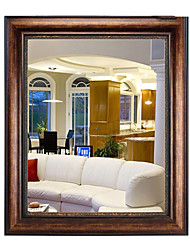 """30""""Nut-Brown Color Rectangle Wall Mirror"""