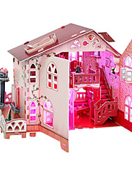 3D Cottage Puzzles with Light Decoration-114 Pieces