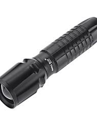 Pequeno Sun ZY-A11 impermeável ajustável Zoom Cree Q3 LED Flashlight (350ml, 1x18650, Black)