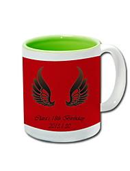 Personalized Ceramic Mug - Angel Wings (More Colors)
