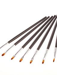 7PCS Fashinable Lip Brush(Black)