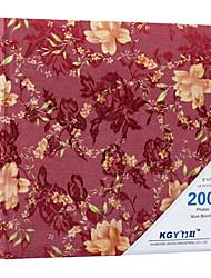 """Rosas de la tela del estilo 5 """"* 7"""" Álbum de fotos (200 Pocket)"""