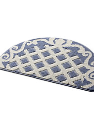 Bath Rugs Dark Blue Flower Pattern