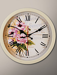 "12 ""H Pink Rose Schilderij Wall Clock"