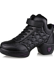 Women's Leather Dance Sneakers For Ballroom