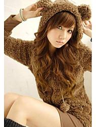 Women's Cute Fleece Bear Coat