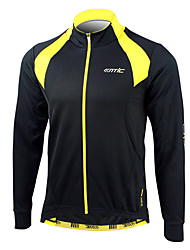 SANTIC-Men's Cycling Jersey / Jacket  Long Sleeve Thermal / Warm 100% Polyester Winter Black+Yellow
