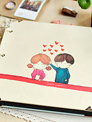 "Amor Pareja Estilo Papel 10 ""* 12"" Photo Album (30 Pocket)"