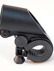Gun Forme Noir ABS Bike Clip de poche (adaptable à diamètre guidon au sein de 2.7cm)